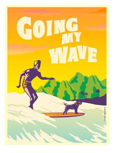 Going My Wave-Diego Patino-Art Print
