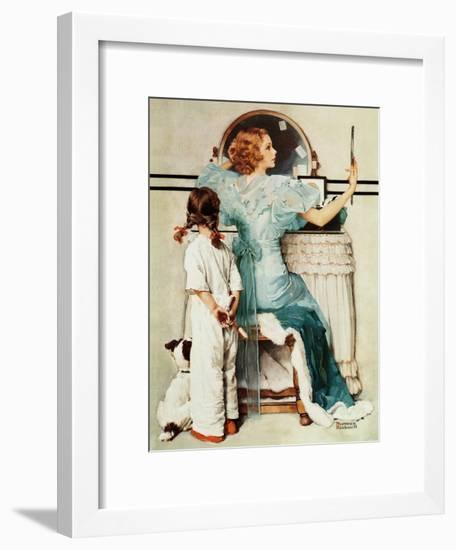 """""""Going Out"""", October 21,1933-Norman Rockwell-Framed Giclee Print"""