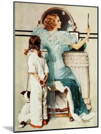 """Going Out"", October 21,1933-Norman Rockwell-Mounted Giclee Print"