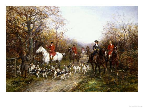 Going Through the Copse-Heywood Hardy-Premium Giclee Print