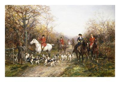 Going Through the Copse-Heywood Hardy-Giclee Print