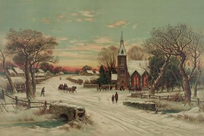 Going to Church, Christmas Eve- J. Hoover & Son-Art Print