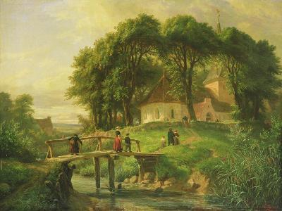 Going to Church in Alt-Rahlstedt, 1861-Otto Speckter-Giclee Print