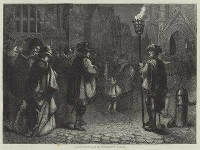 Going to Midnight Mass in the Sixteenth Century in France--Giclee Print
