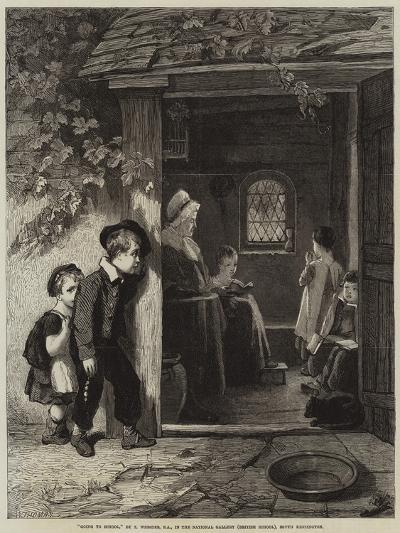 Going to School-Thomas Webster-Giclee Print