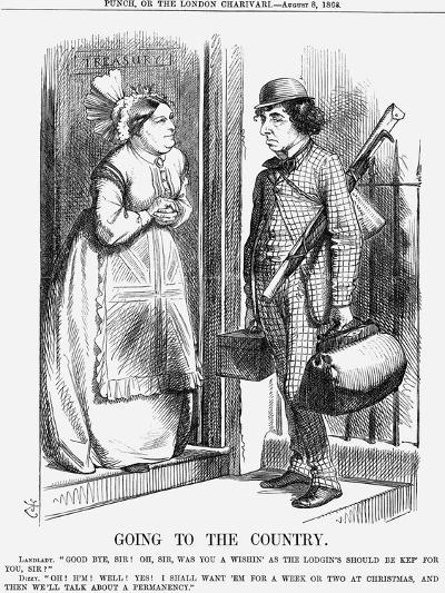Going to the Country, 1868-John Tenniel-Giclee Print