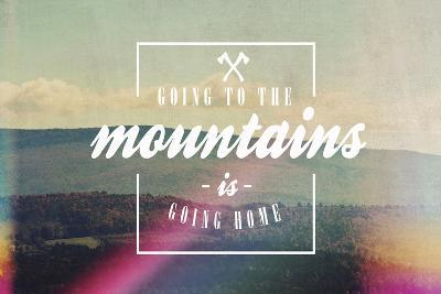 Going to the Mountains-Vintage Skies-Giclee Print
