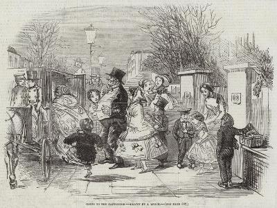 Going to the Pantomime-John Leech-Giclee Print