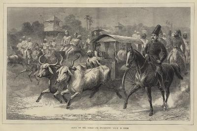 Going to the Races, an Up-Country Scene in India--Giclee Print