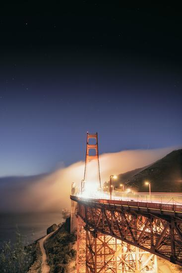 Going With The Flow Morning Fog Golden Gate Bridge Vista-Vincent James-Photographic Print