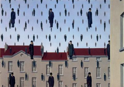 Golconde-Rene Magritte-Art Print