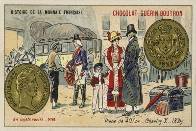 Gold 40 Franc Piece of Charles X, 1829--Giclee Print
