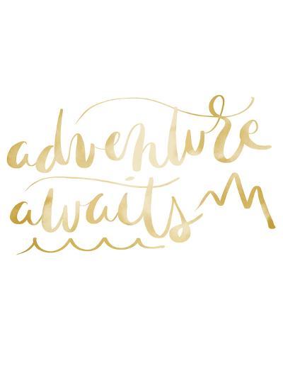 Gold Adventure Awaits Typography-Jetty Printables-Art Print