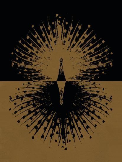 Gold and Black Peacock--Poster
