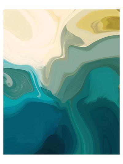 Gold and Greens I--Art Print