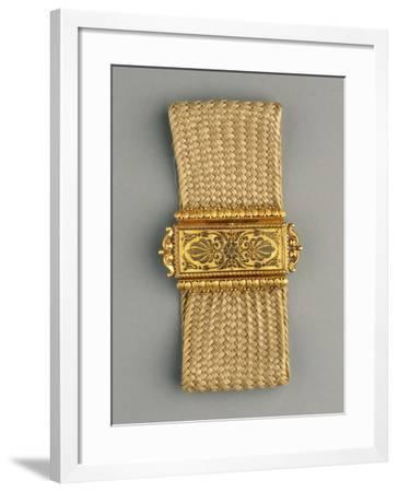 Gold and Woven Hair Bracelet, around 1812-1826--Framed Giclee Print