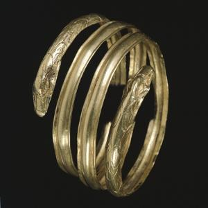 Gold Armband with Protomes in Shape of Snakes, Italy