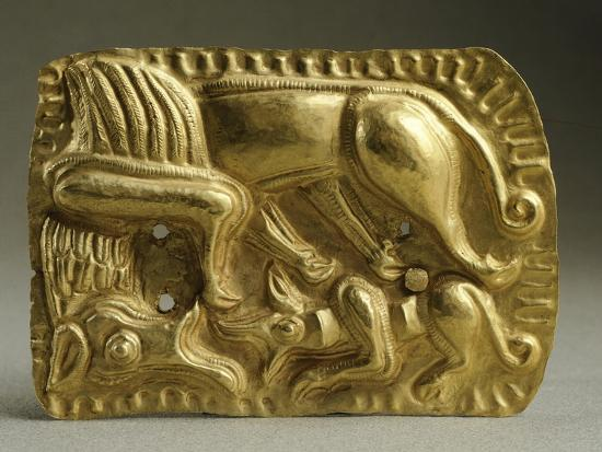 Gold Armour Stud Decorated with Animal Figures--Giclee Print