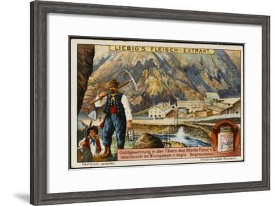 Gold at Monte Rosa--Framed Giclee Print