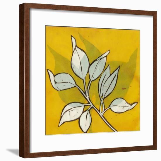Gold Batik Botanical I-Andrea Davis-Framed Art Print