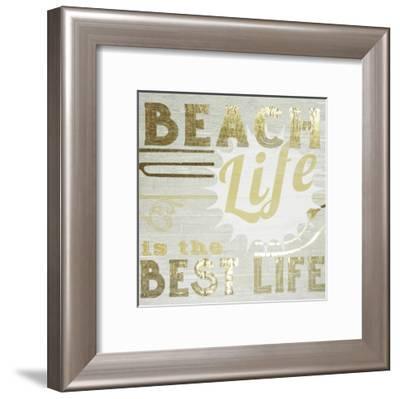 Gold & Beachy II-June Erica Vess-Framed Art Print
