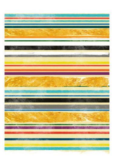Gold Between Lanes 1-Cynthia Alvarez-Art Print