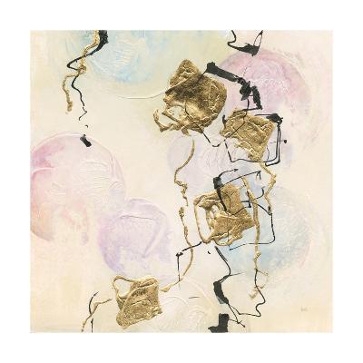 Gold Blocks on Pastel I-Chris Paschke-Art Print