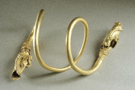 Gold Bracelet in Shape of Snake, from Cucuteni-Baiceni Treasure, Romania--Giclee Print