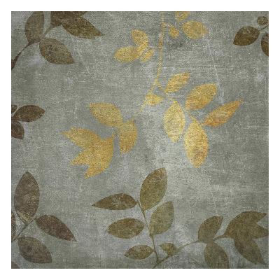 Gold Brown Leaves-Kristin Emery-Art Print