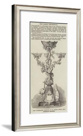 Gold Candelabrum Presented to Mr Francis Cadell, the Australian Explorer--Framed Giclee Print