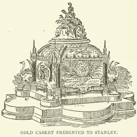 Gold Casket Presented to Stanley--Giclee Print
