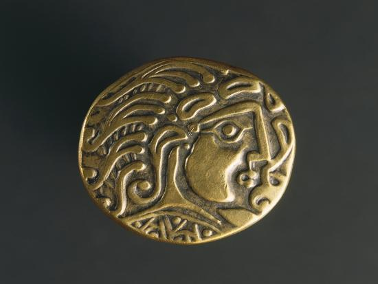 Gold Celtic Stater of Parisii or Quarisii--Giclee Print