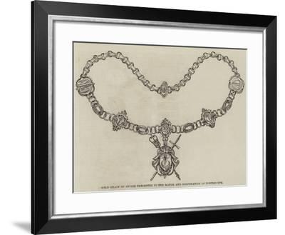 Gold Chain of Office Presented to the Mayor and Corporation of Portsmouth--Framed Giclee Print
