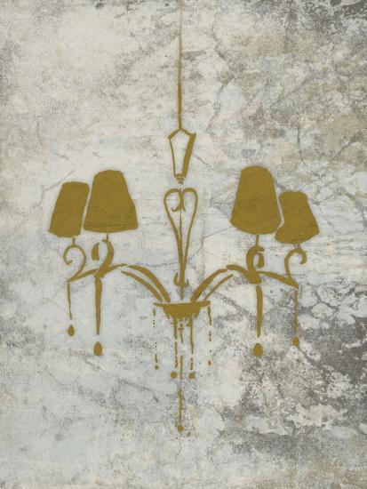 Gold Chandelier Mate-OnRei-Art Print