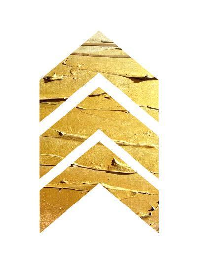 Gold Chevrons--Art Print