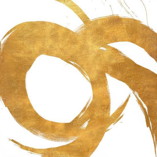 Gold Circular Strokes II-Megan Morris-Art Print