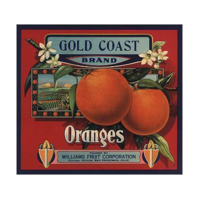 Gold Coast Brand - San Francisco, California - Citrus Crate Label-Lantern Press-Art Print