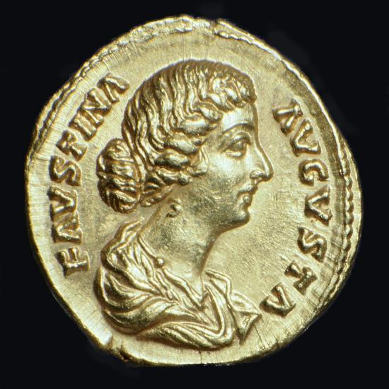 Gold coin of Faustina II, 2nd century-Unknown-Giclee Print