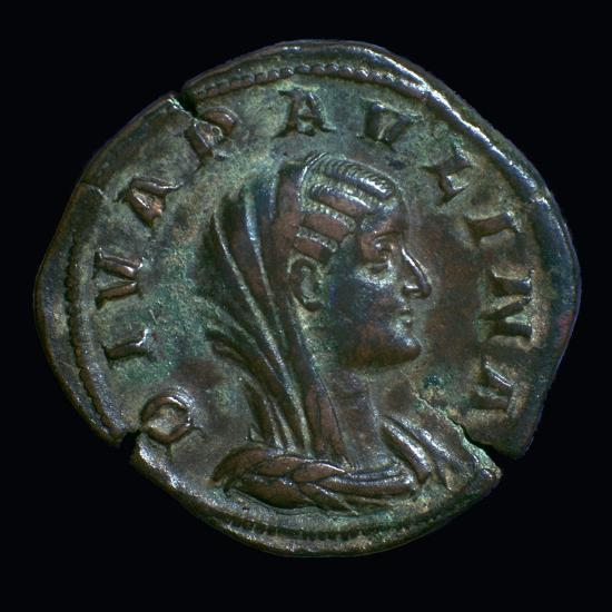 Gold coin of Paulina, 3rd century-Unknown-Giclee Print