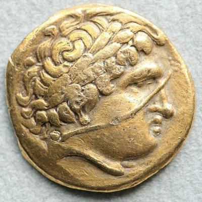 Gold Coin with Head of Apollo--Photographic Print