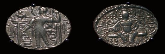 Gold coins of King Samudra Gupta, 4th century. Artist: Unknown-Unknown-Giclee Print