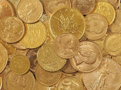 Gold Coins-Dave Watts-Photographic Print