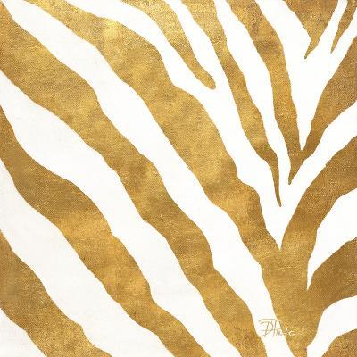 Gold Contemporary Zebra (gold foil)-Patricia Pinto-Art Print