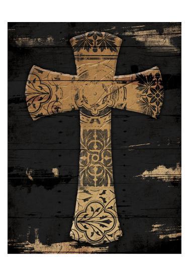 Gold Cross 1-Jace Grey-Art Print