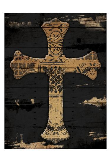 Gold Cross 2-Jace Grey-Art Print