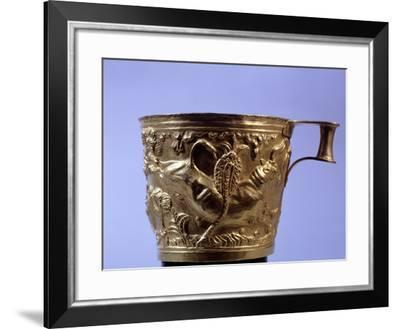 Gold Cup from Vaphio Near Sparta, Goldsmith Art and Craft, Mycenaean Civilization, 16th Century BC--Framed Giclee Print