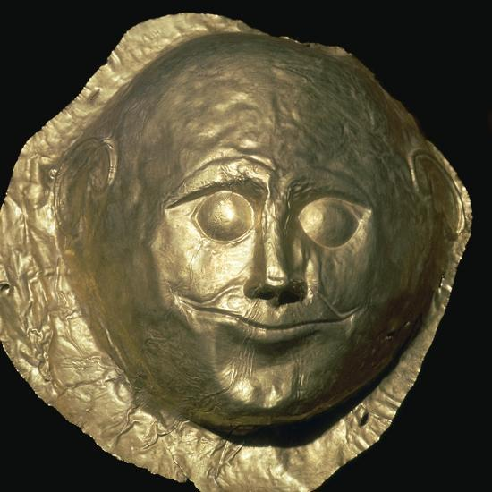 Gold death-mask of a Mycenaean King, 17th century BC. Artist: Unknown-Unknown-Giclee Print