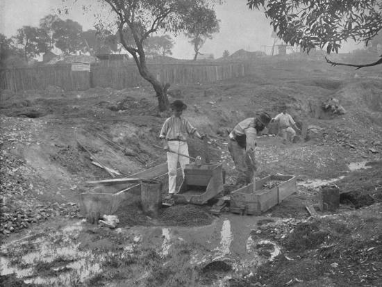 'Gold-Digging in Australia', 19th century-Unknown-Photographic Print