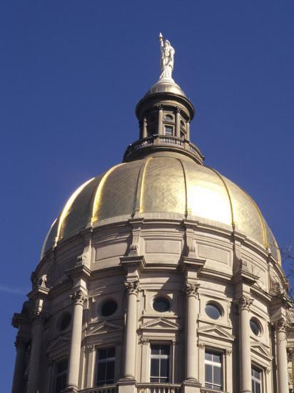 Gold Dome of the Capital Building, Savannah, Georgia-Bill Bachmann-Photographic Print