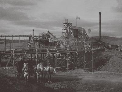 Gold Dredge in Sysert, 1900s-1910S--Giclee Print